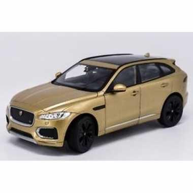 Speelgoedauto jaguar f-pace goudkleurig 1:34