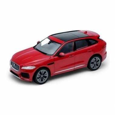 Speelgoedauto jaguar f-pace rood 1:34
