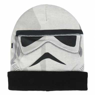 Star wars stormtrooper bivakmasker/muts voor jongens