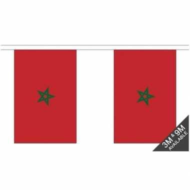 Stoffen vlaggenlijn marokko 3 meter