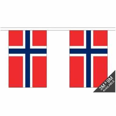 Stoffen vlaggenlijn noorwegen 3 meter