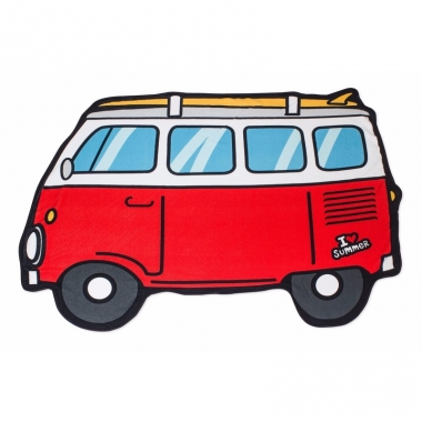 Strandlaken rode camper bus 150 x 110 cm