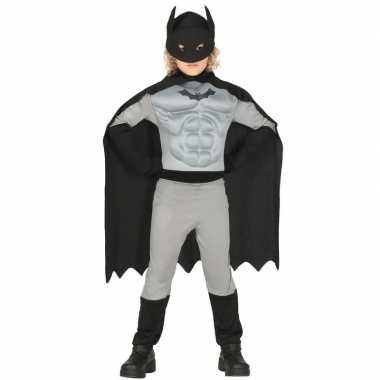 Superhelden vleermuis pak voor jongens grijs/zwart