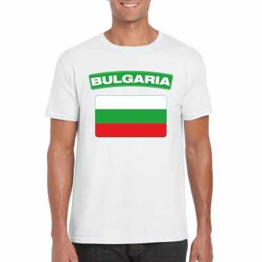 T-shirt bulgaarse vlag wit heren