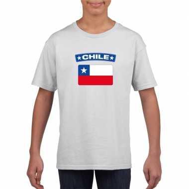 T-shirt chileense vlag wit kinderen