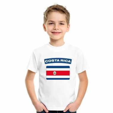 T-shirt costa ricaanse vlag wit kinderen