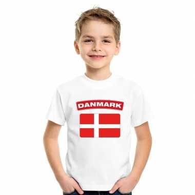 T-shirt deense vlag wit kinderen