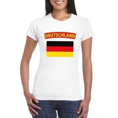 T-shirt duitse vlag wit dames