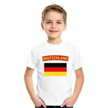 T-shirt duitse vlag wit kinderen