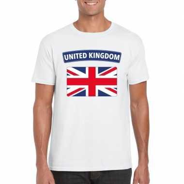 T-shirt engelse vlag wit heren