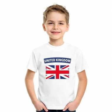 T-shirt engelse vlag wit kinderen