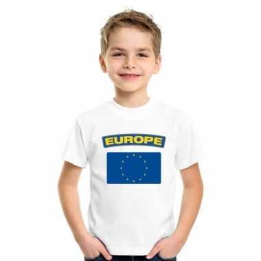 T-shirt europese vlag wit kinderen