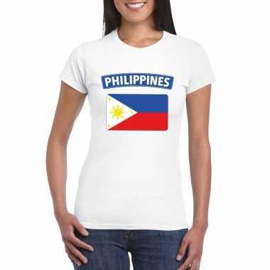 T-shirt filipijnse vlag wit dames