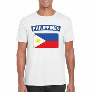 T-shirt filipijnse vlag wit heren