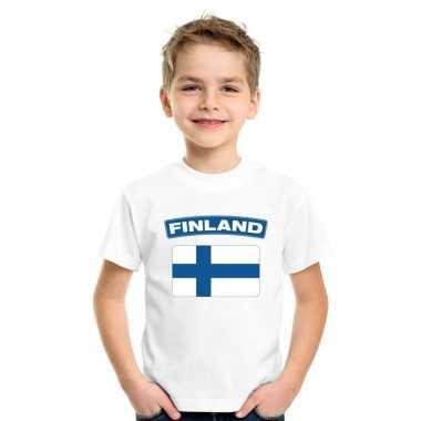T-shirt finse vlag wit kinderen
