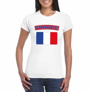 T-shirt franse vlag wit dames