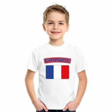 T-shirt franse vlag wit kinderen
