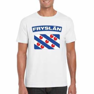T-shirt friese vlag wit heren
