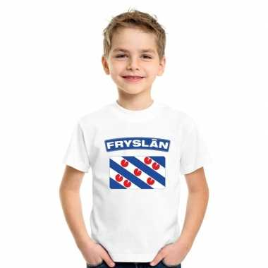 T-shirt friese vlag wit kinderen