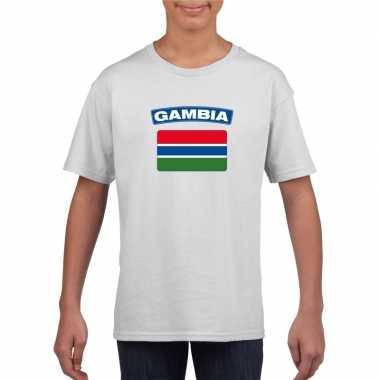 T-shirt gambiaanse vlag wit kinderen