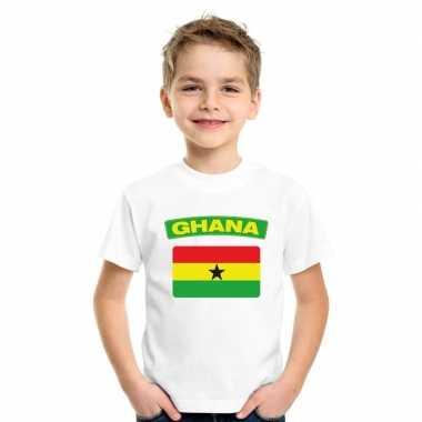 T-shirt ghanese vlag wit kinderen