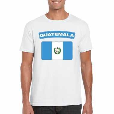 T-shirt guatemalaanse vlag wit heren