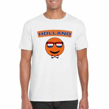 T-shirt holland smiley wit heren