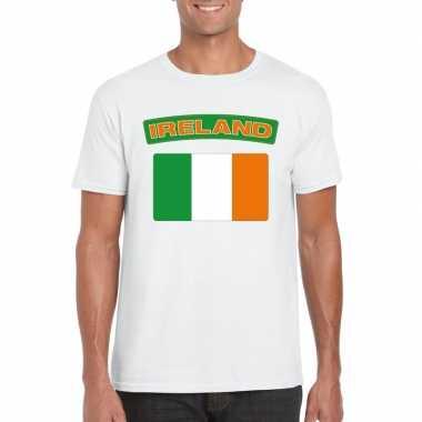 T-shirt ierse vlag wit heren