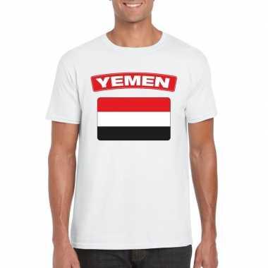 T-shirt irakese vlag wit heren