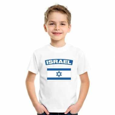 T-shirt israelische vlag wit kinderen