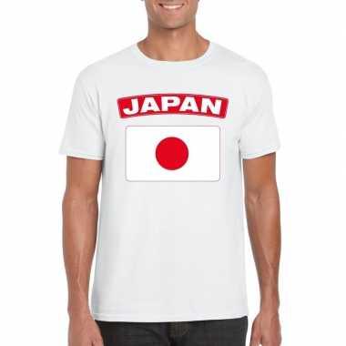 T-shirt japanse vlag wit heren