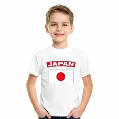 T-shirt japanse vlag wit kinderen