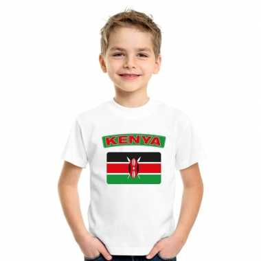T-shirt keniaanse vlag wit kinderen