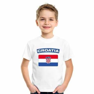 T-shirt kroatische vlag wit kinderen
