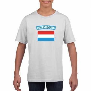T-shirt luxemburgse vlag wit kinderen