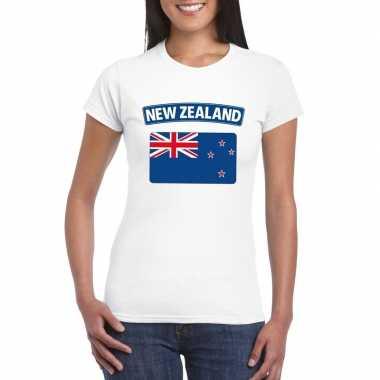 T-shirt nieuw zeelandse vlag wit dames