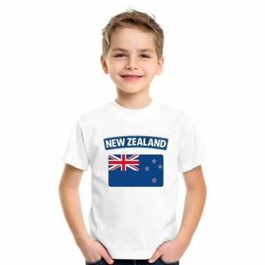 T-shirt nieuw zeelandse vlag wit kinderen