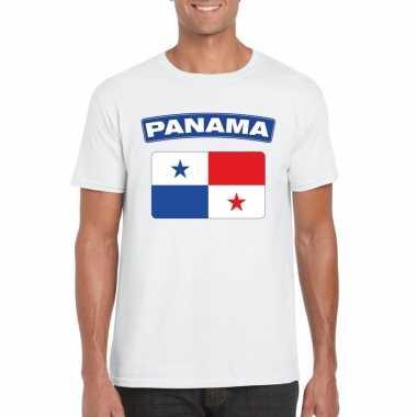 T-shirt panamese vlag wit heren
