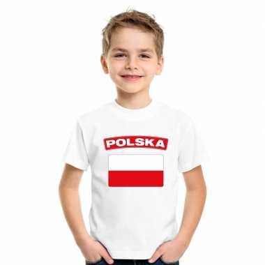 T-shirt poolse vlag wit kinderen