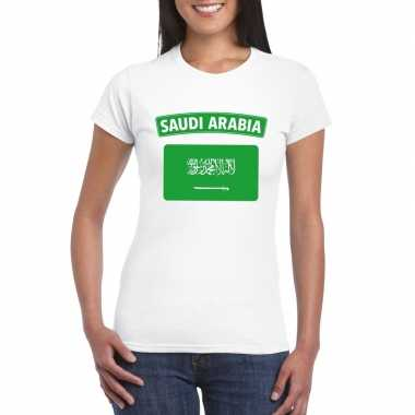 T-shirt saudi arabische vlag wit dames