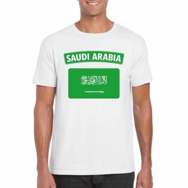T-shirt saudi arabische vlag wit heren