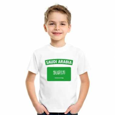 T-shirt saudi arabische vlag wit kinderen