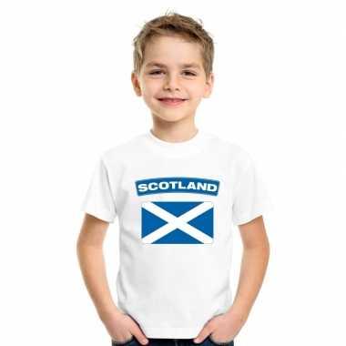 T-shirt schotse vlag wit kinderen