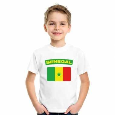 T-shirt senegalese vlag wit kinderen