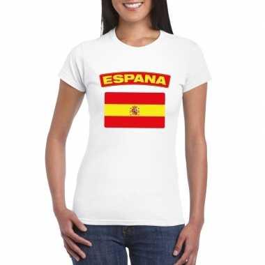 T-shirt spaanse vlag wit dames