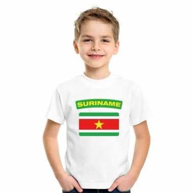T-shirt surinaamse vlag wit kinderen