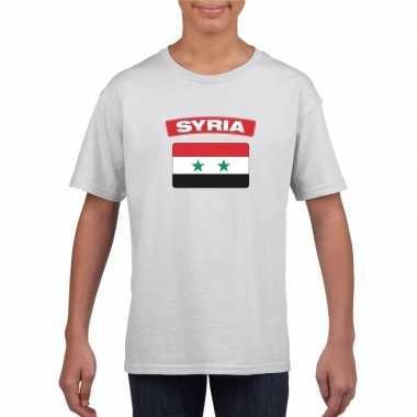 T-shirt syrische vlag wit kinderen