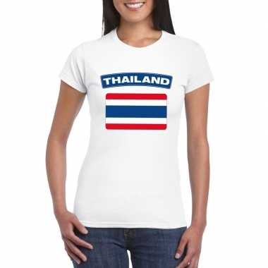 T-shirt thaise vlag wit dames