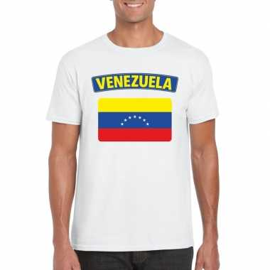 T-shirt venezolaanse vlag wit heren