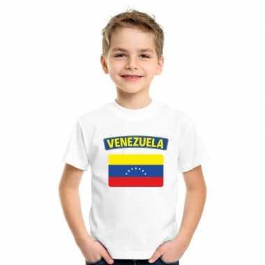T-shirt venezolaanse vlag wit kinderen
